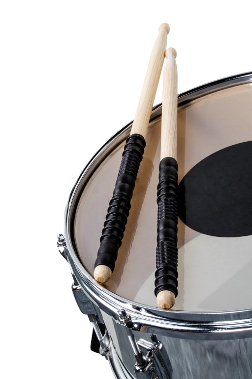 Physiostorm Drumsticks on snare